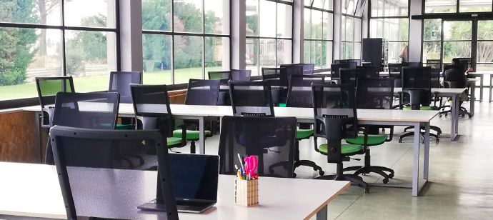 Spazio di coworking open-space